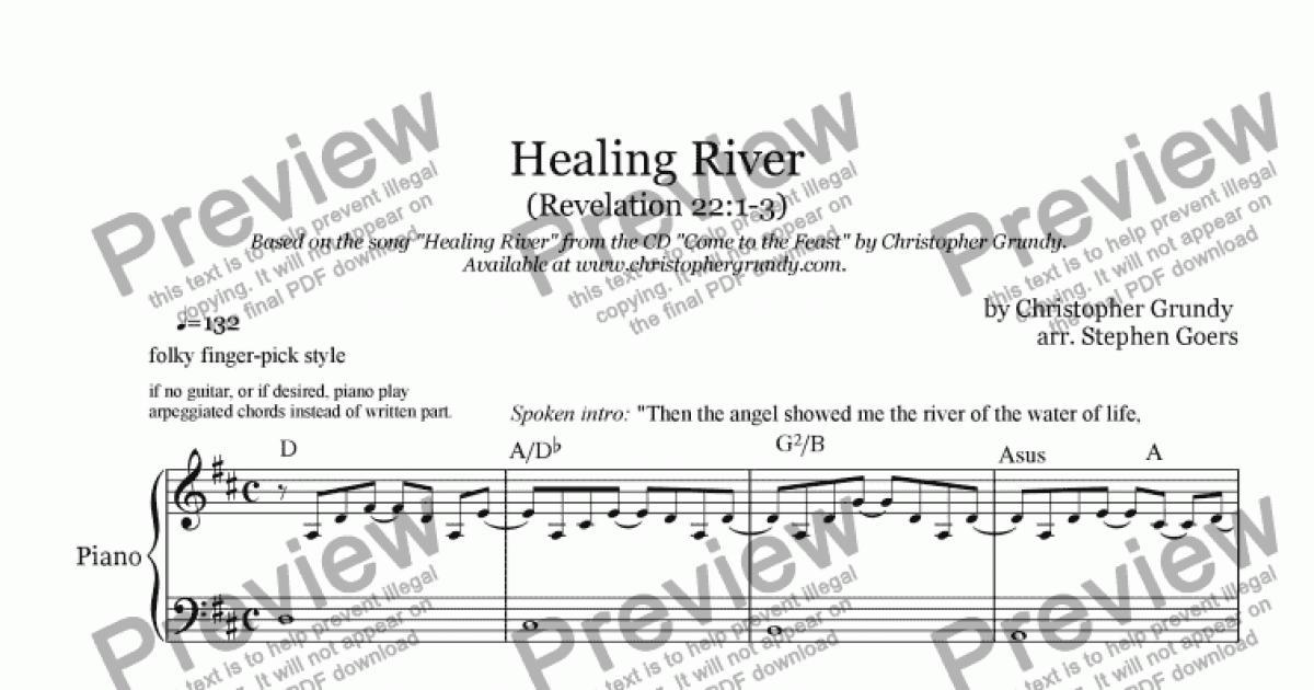 Healing River - Download Sheet Music PDF file