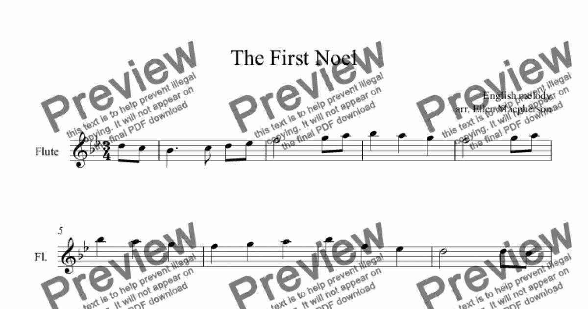 The First Noel (Free Flute Music) - Download Sheet Music PDF file