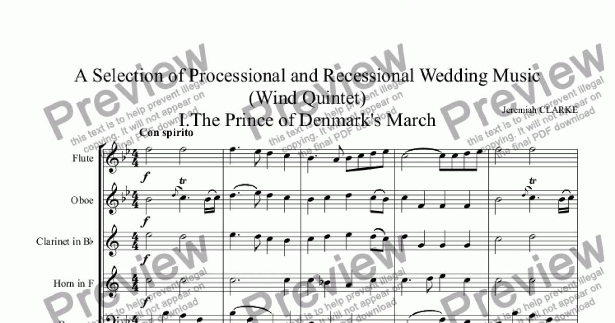 Wedding music for wind quintet a selection of processional and wedding music for wind quintet a selection of processional and recessional musiciince of denmark iihornpipe iiindeau abdelazer iv junglespirit Choice Image