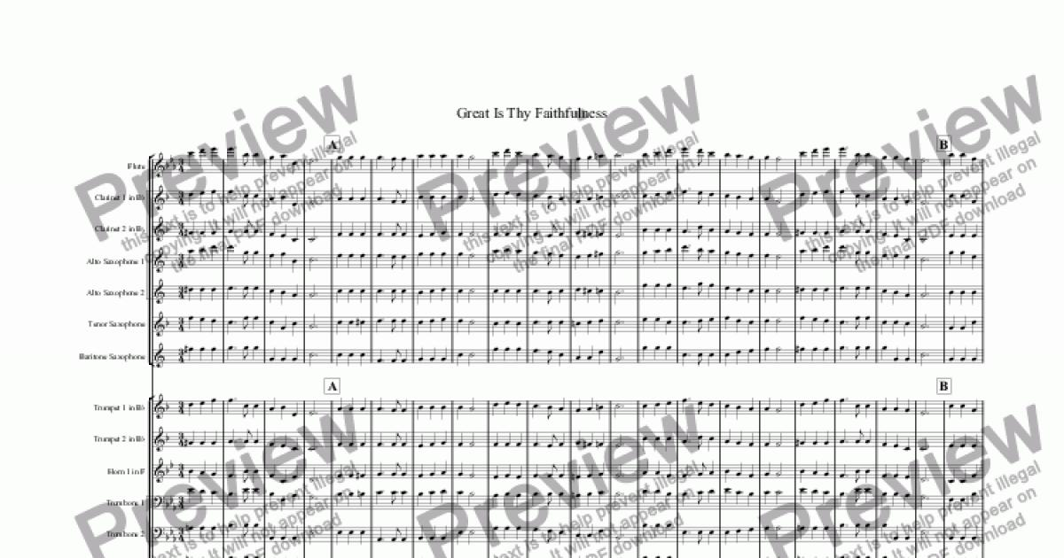 Flute part from Great Is Thy Faithfulness - Download Sheet Music PDF