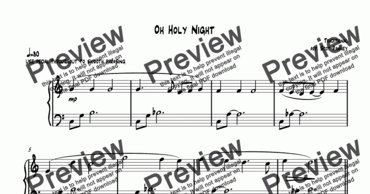 Oh Holy Night sheetmusic for easy/medium jazz piano - Sheet Music PDF