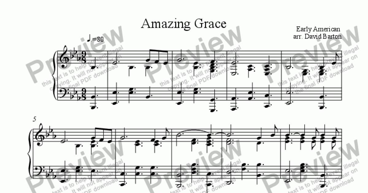 Amazing Grace In Gospel Piano Style Download Sheet Music Pdf