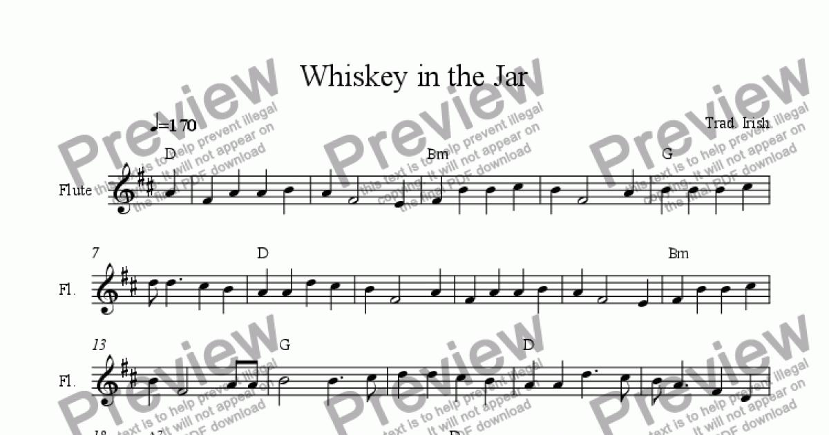 Whiskey In The Jar Download Sheet Music Pdf File