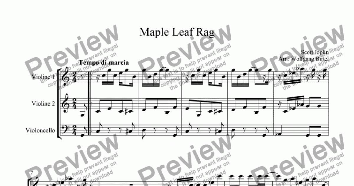 Maple Leaf Rag 2 Vl Vc Download Sheet Music Pdf File