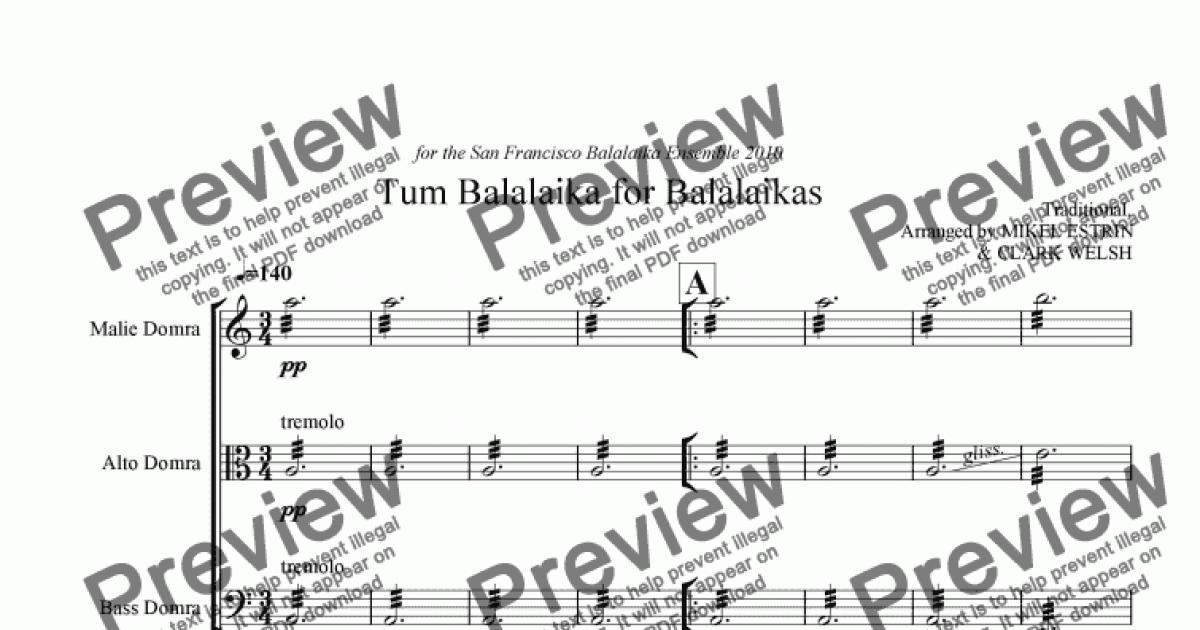 Tum Balalaika For Balalaikas Download Sheet Music Pdf File