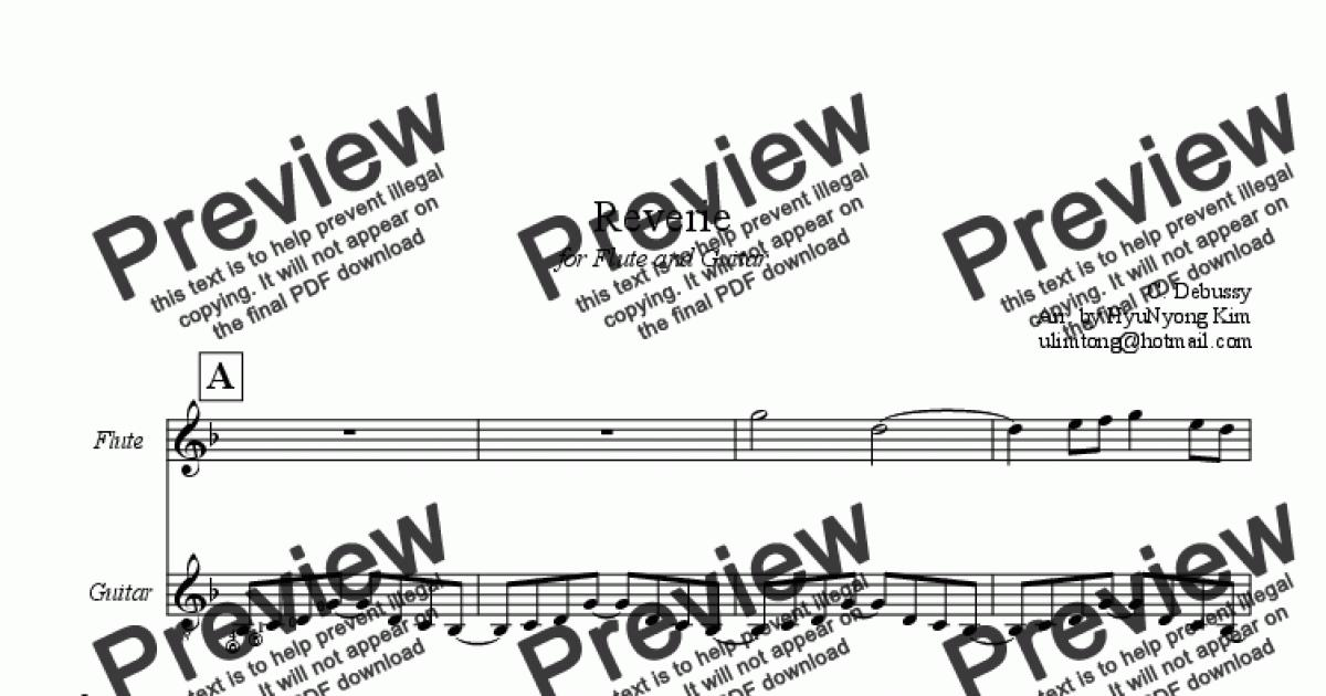 Reverie for Flute & Guitar - Download Sheet Music PDF file
