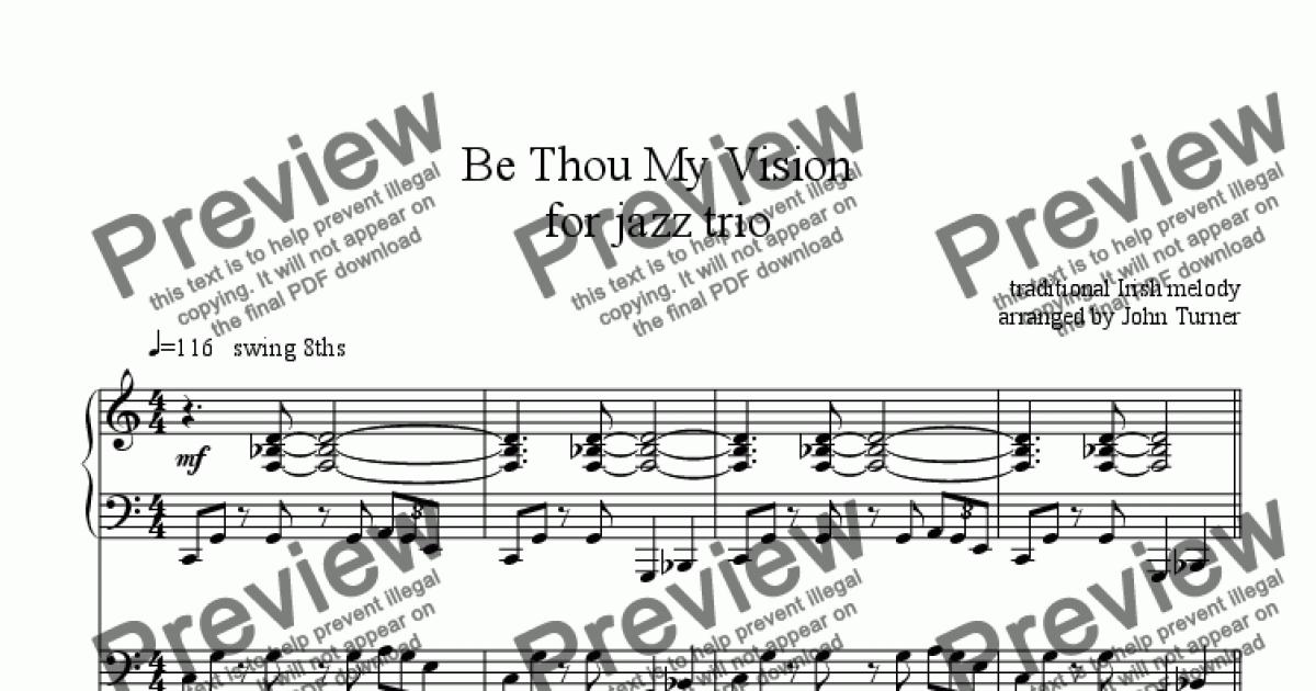 Be Thou My Vision For Jazz Trio Download Sheet Music Pdf