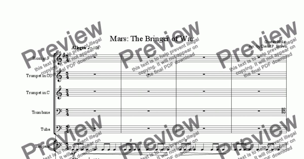 Mars Marching Band Pdf - pastwood