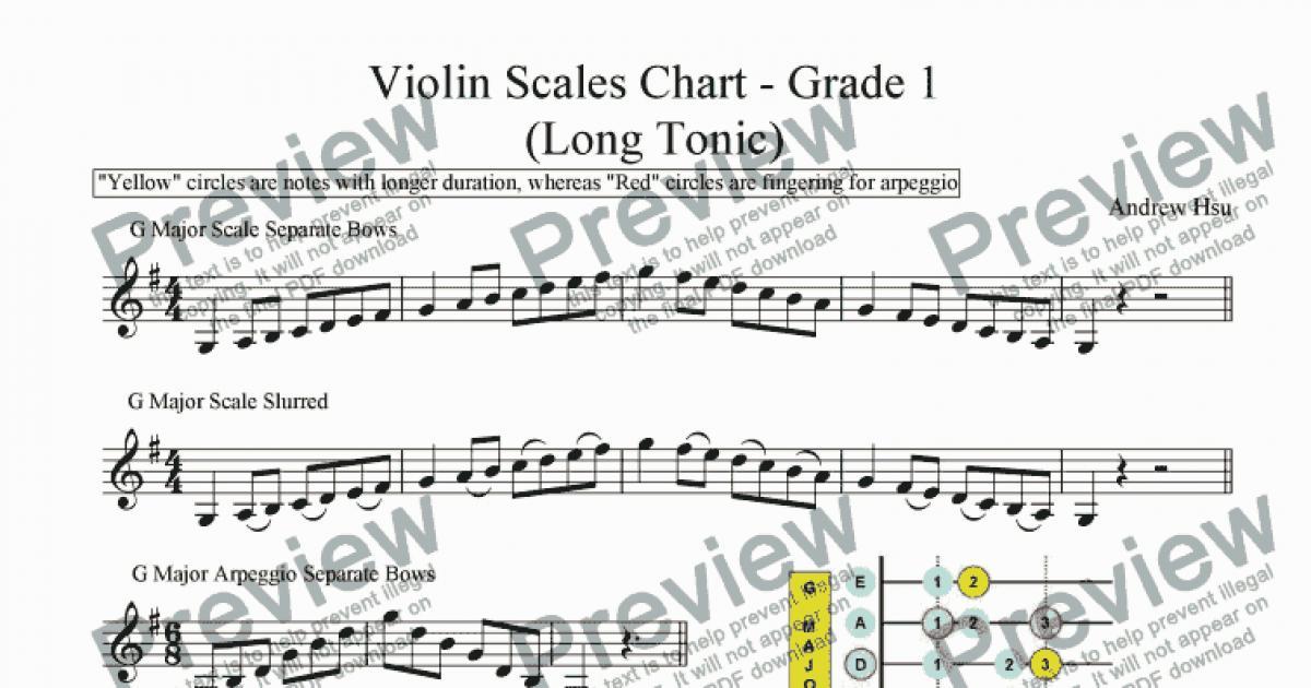 Violin Finger Charts - Grade 1 (LN) - Sheet Music PDF file