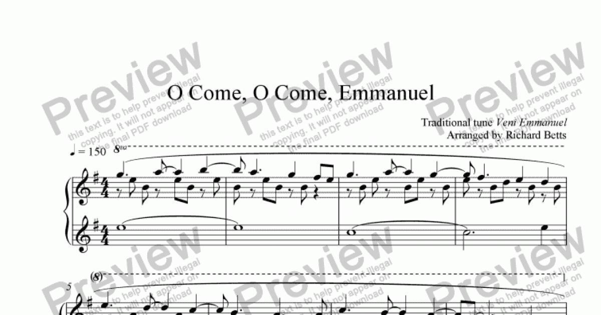 O Come, O Come, Emmanuel - Christmas Carol / Hymn Piano Solo