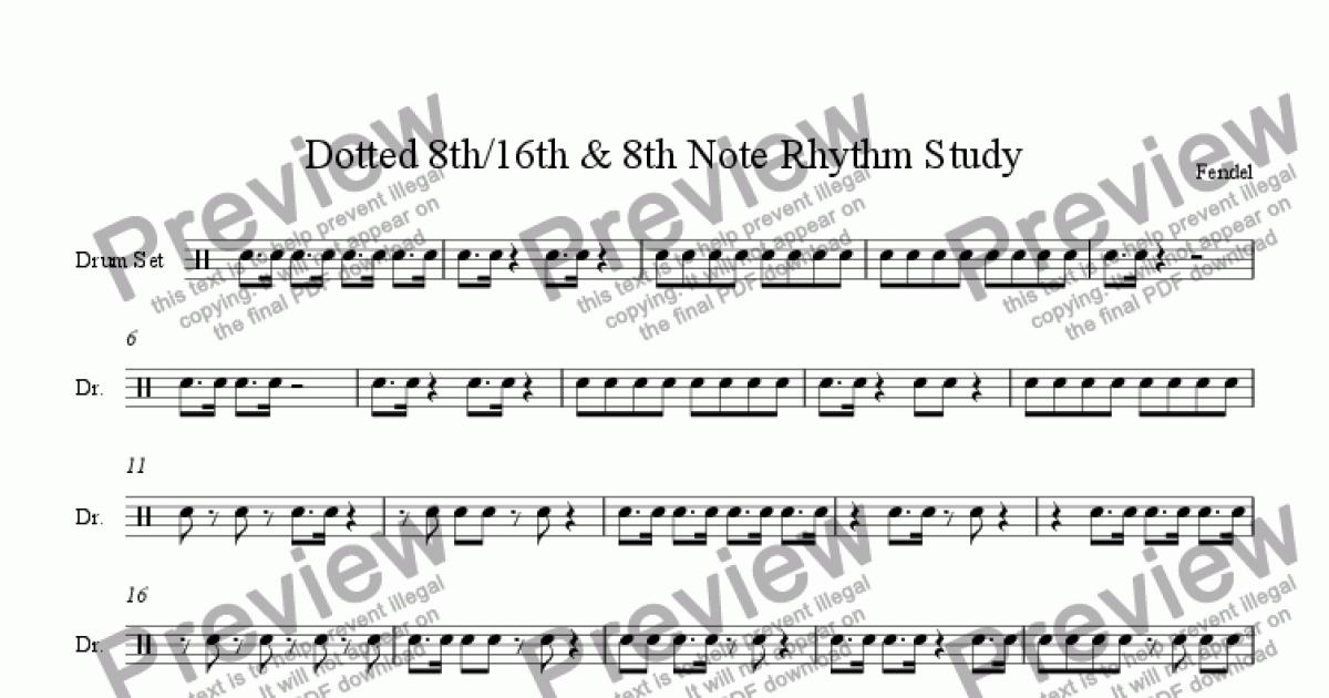 dotted 8th 16th 8th note rhythm study download pdf file. Black Bedroom Furniture Sets. Home Design Ideas