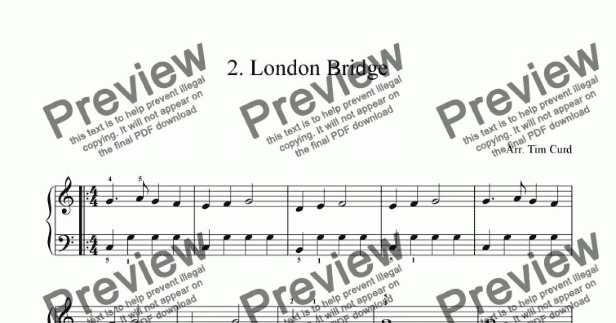 london bridge fergie sheet music pdf