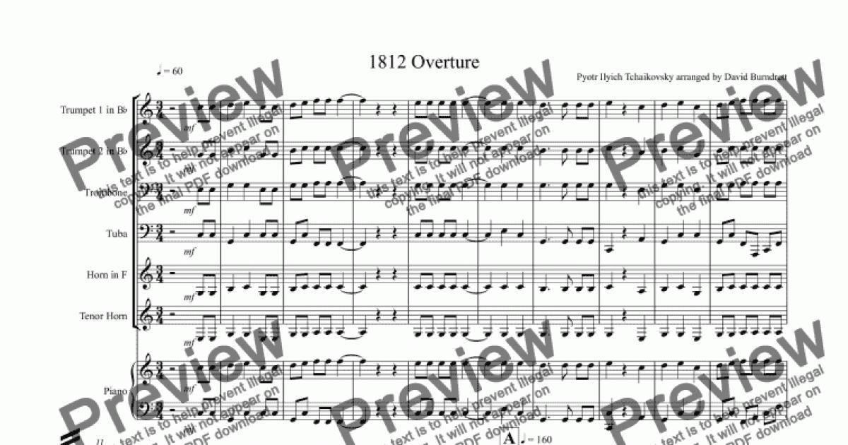 All Music Chords 1812 overture music sheet : 1812 Overture for Brass Quartet - Download Sheet Music PDF
