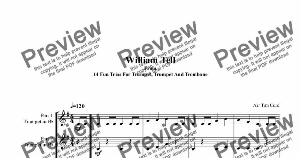 william tell overture trumpet pdf