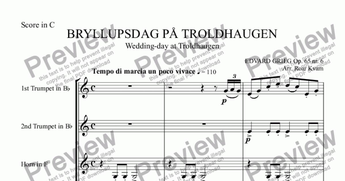 All Music Chords grieg wedding day at troldhaugen sheet music : Grieg: Bryllupsdag på Troldhaugen/Wedding-day at Troldhaugen ...