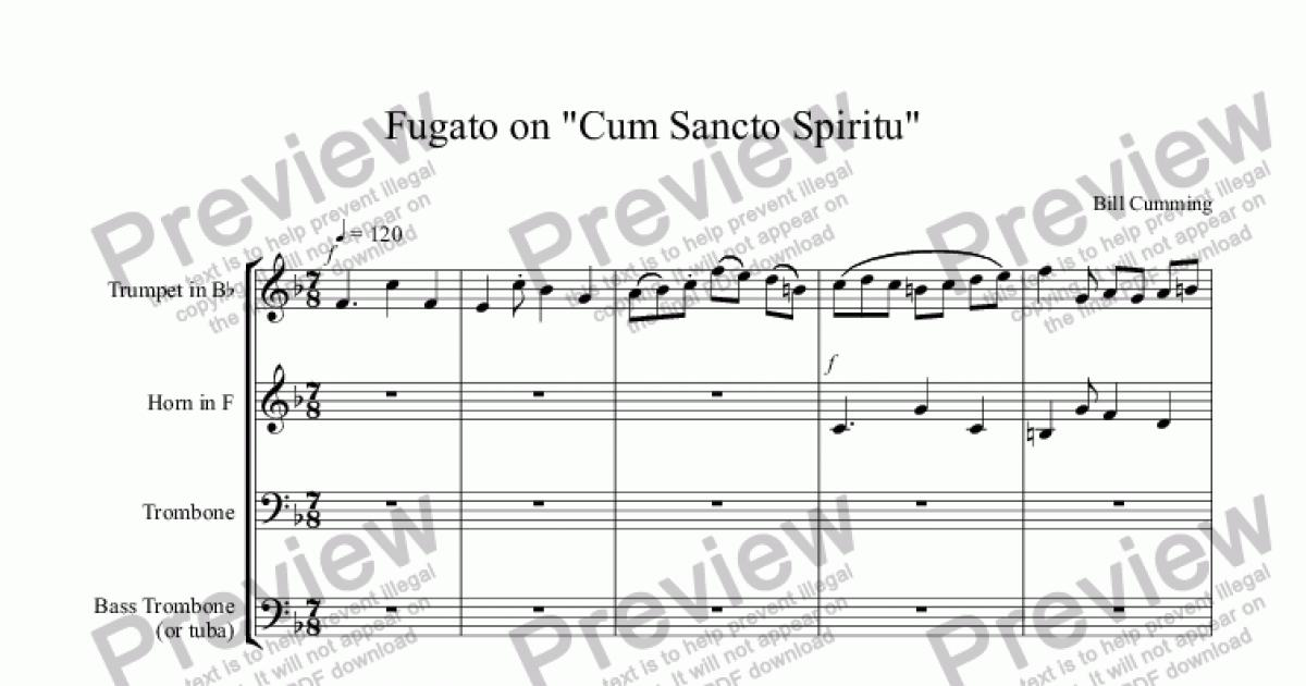 Cum Sancto Spiritu Score Analysis - Anal-3419