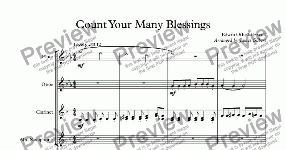 count your many blessings download sheet music pdf file. Black Bedroom Furniture Sets. Home Design Ideas