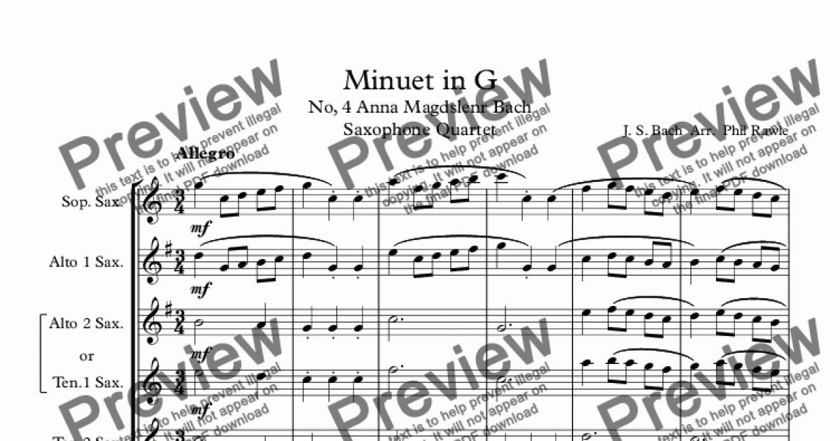 minuet in g analysis A comprehensive collection of analytical notes on over a thousand pieces of classical and popular music minuet in g minor bwv 842 - analysis level iii analysis.