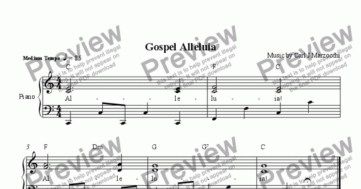 Gospel Alleluia - Download Sheet Music PDF file