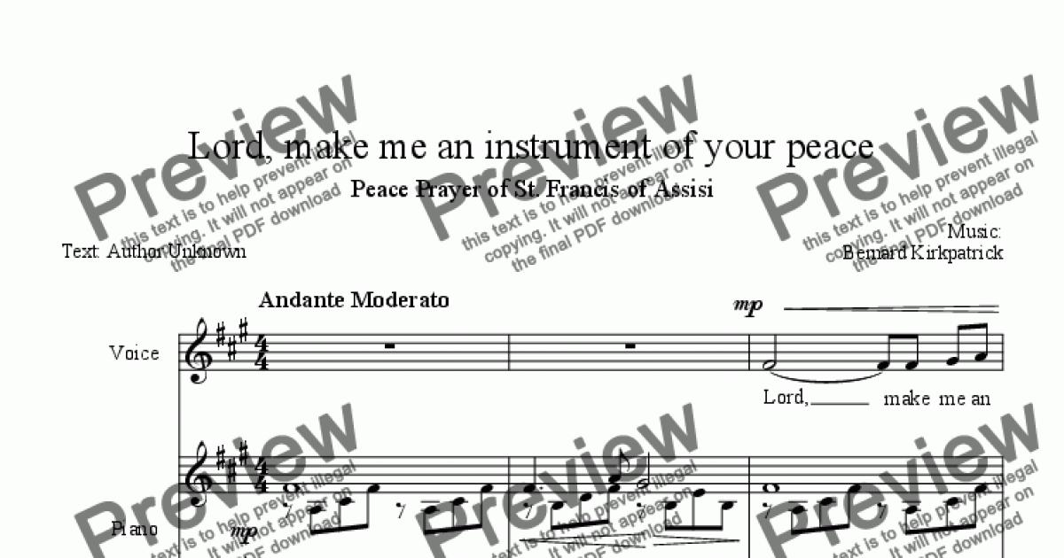 Prayer of St. Francis of Assisi-Download Sheet Music - PDF