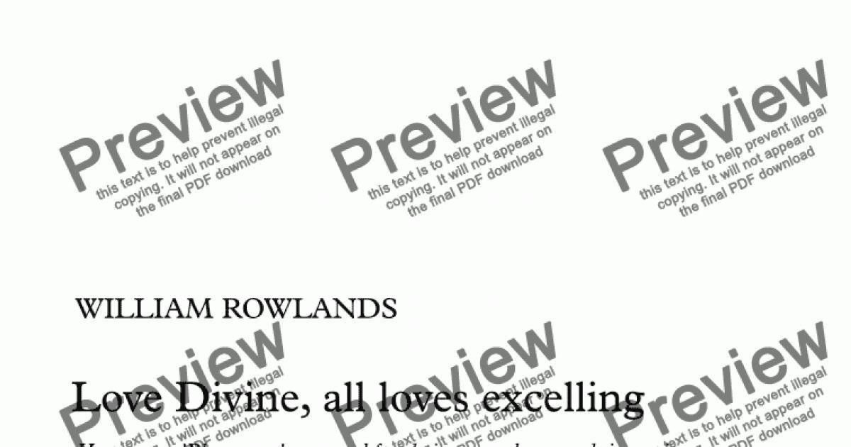 Blaenwern (Love Divine, all loves excelling) - arrangement & descant