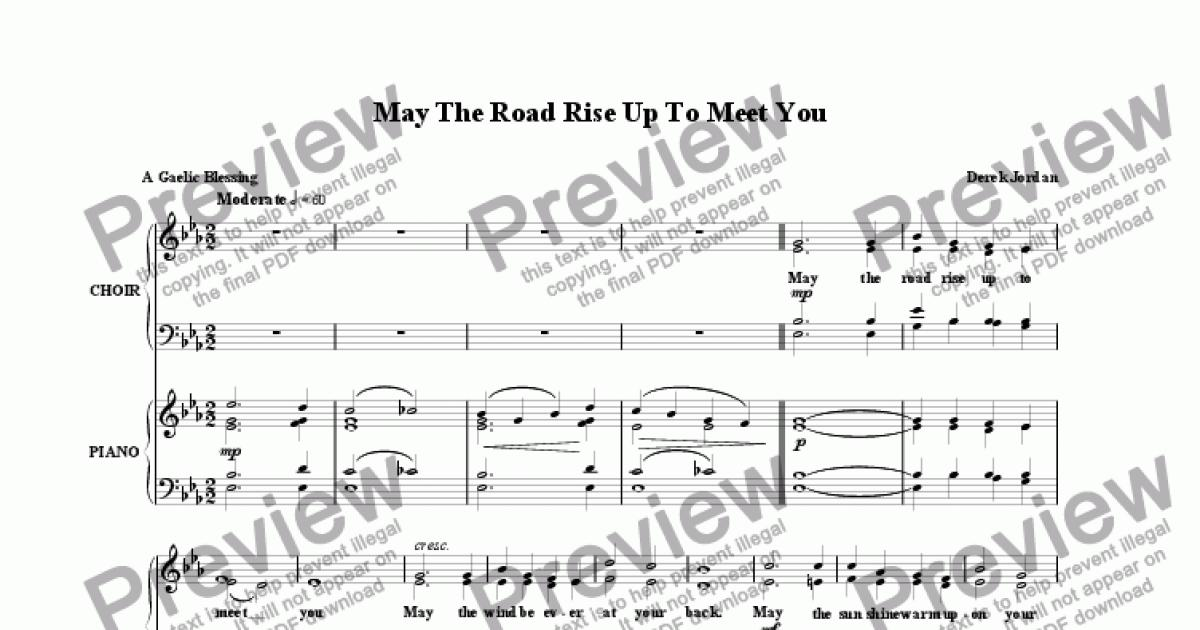 May The Road Rise Up To Meet You - Download Sheet Music PDF