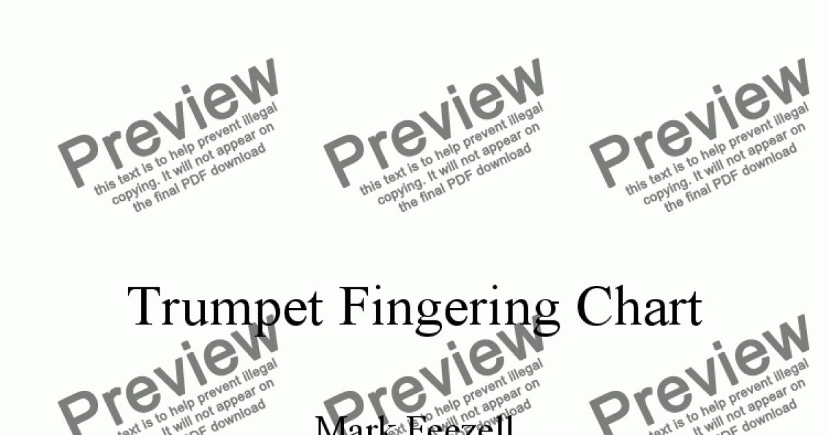Trumpet Fingering Chart Handout  The Best Fingering Chart For