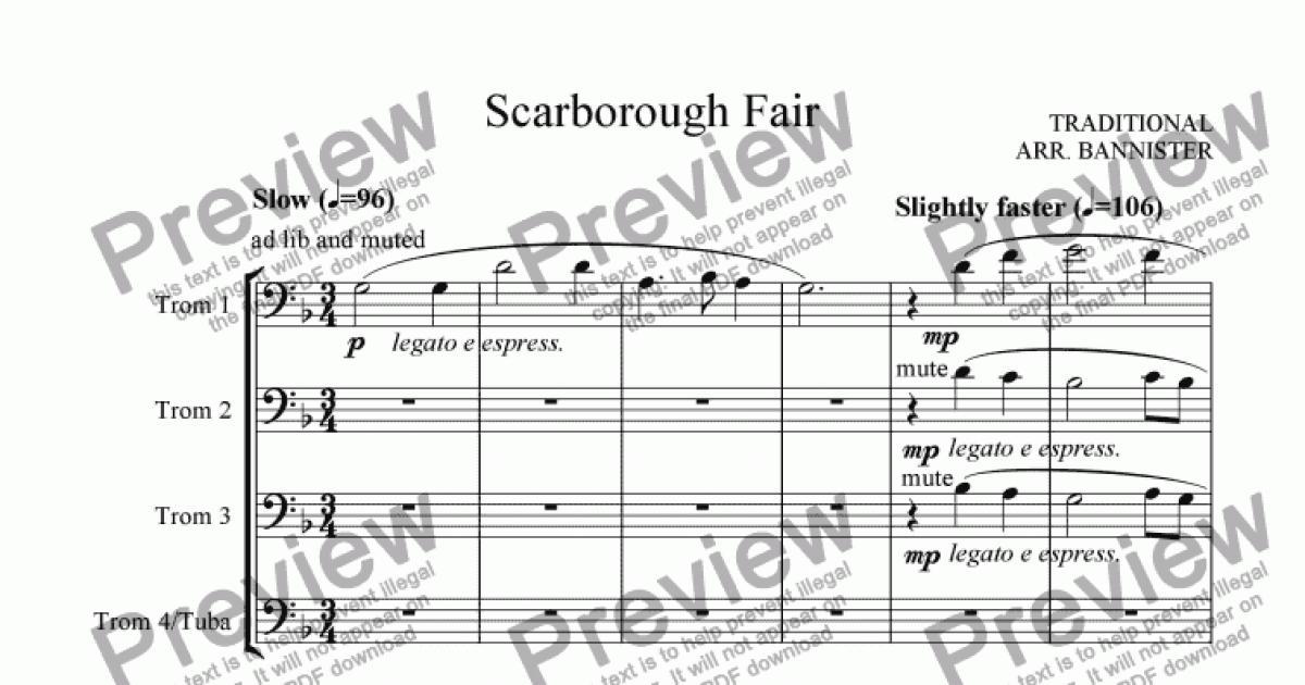 Piano scarborough fair piano sheet music : Scarborough Fair - Download Sheet Music PDF file