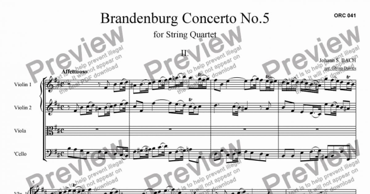 Brandenburg Concerto No. 5: Affettuoso - Score