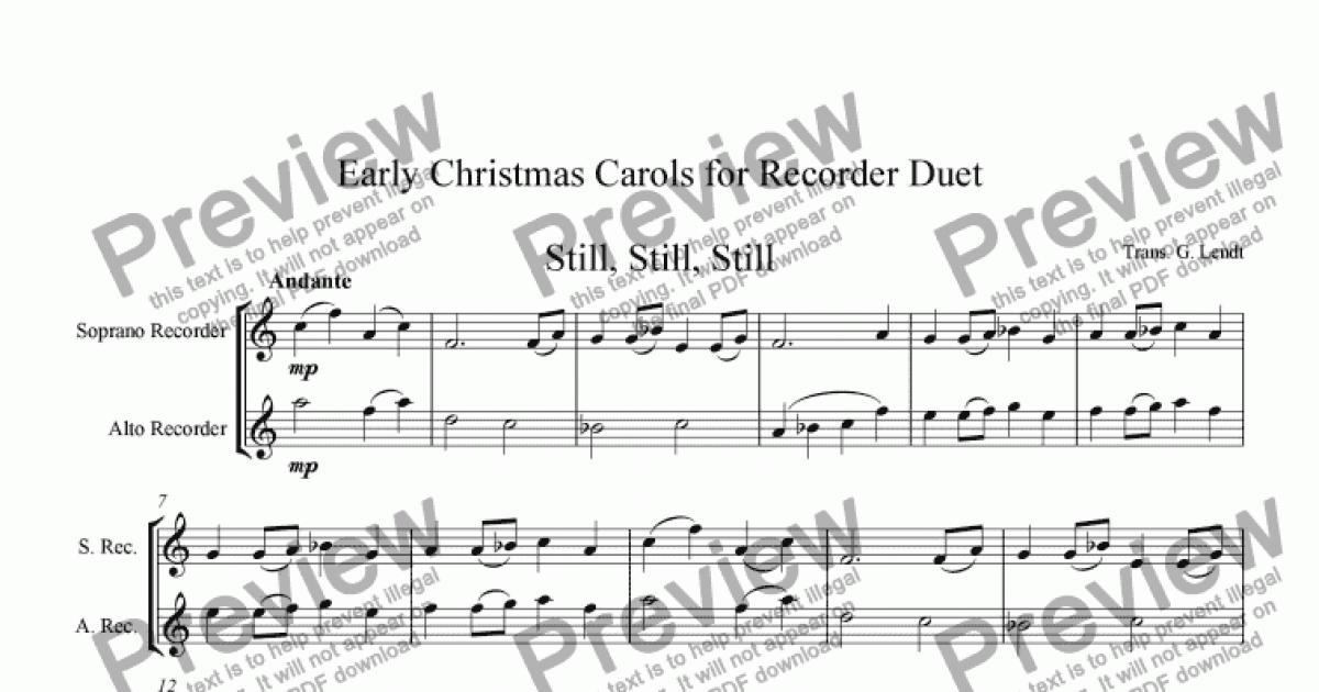 Recorder Christmast Duets (Soprano, Alto) - Sheet Music PDF