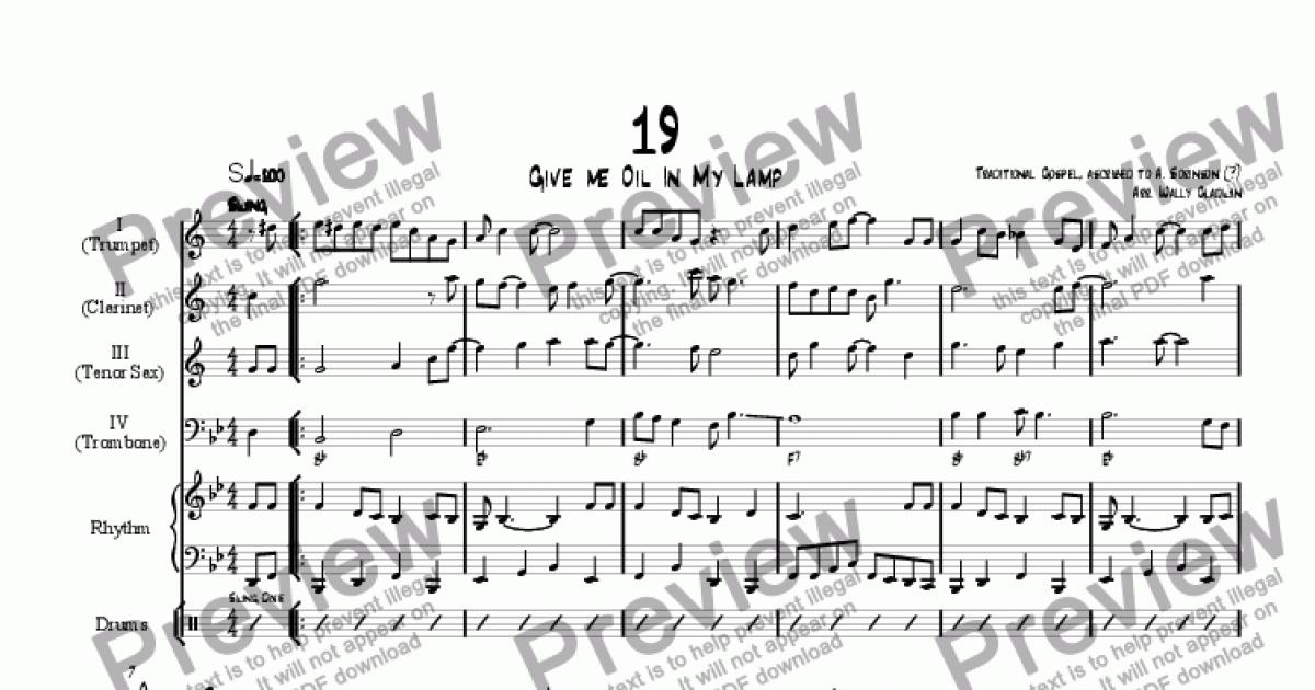 Give Me Oil In My Lamp   Sheet Music PDF File