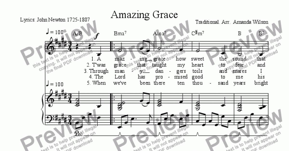 amazing grace full score pdf
