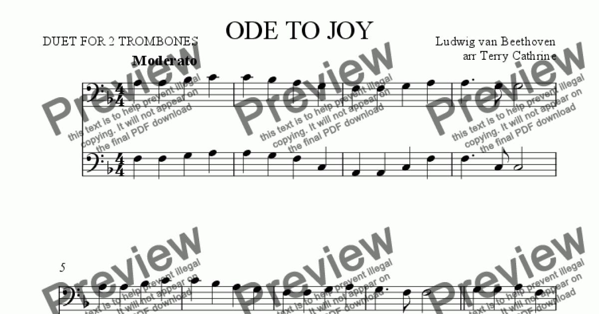 ode to joy guitar pdf