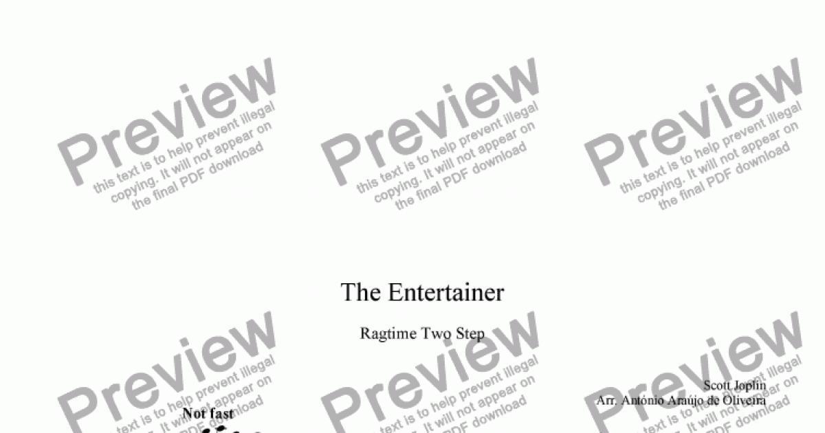 the entertainer violin sheet music pdf