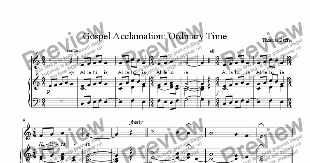 ordinary days musical score pdf