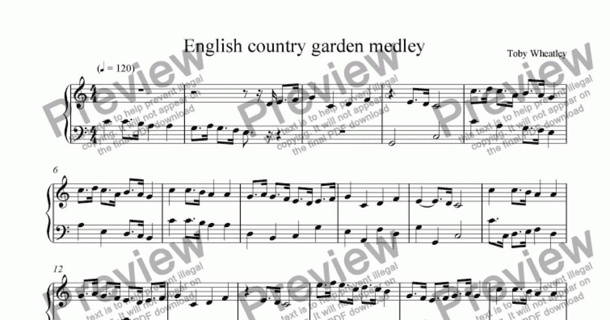 english country garden medley download sheet music pdf. Black Bedroom Furniture Sets. Home Design Ideas
