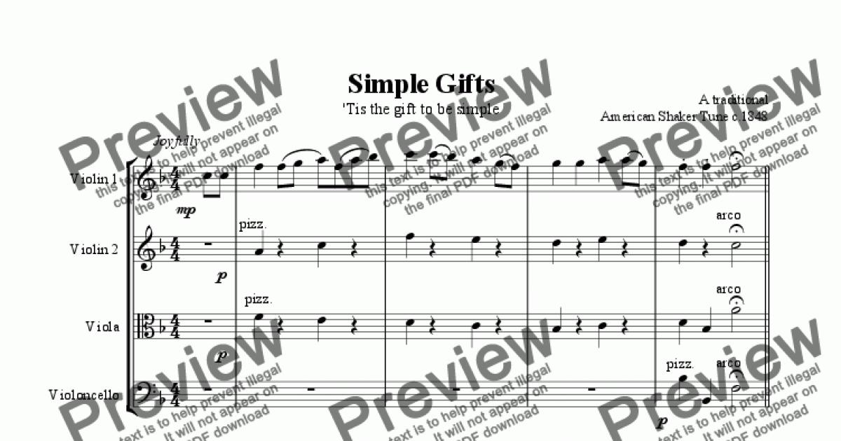 All Music Chords simple gifts cello sheet music : Simple Gifts - Shaker Melody - Unity Wedding Candle Download ...