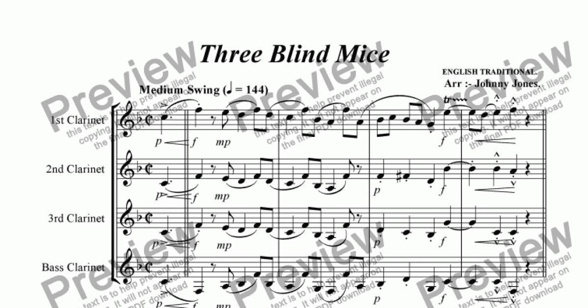 three blind mice sheet music pdf