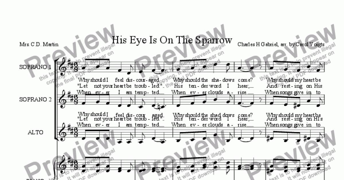 All Music Chords his eye is on the sparrow music sheet : His Eye Is On The Sparrow - Download Sheet Music PDF file