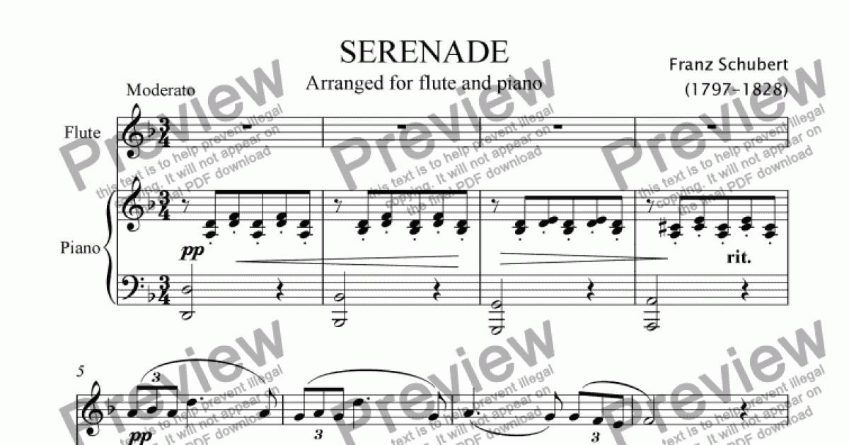 Schubert Serenade - Download Sheet Music PDF file