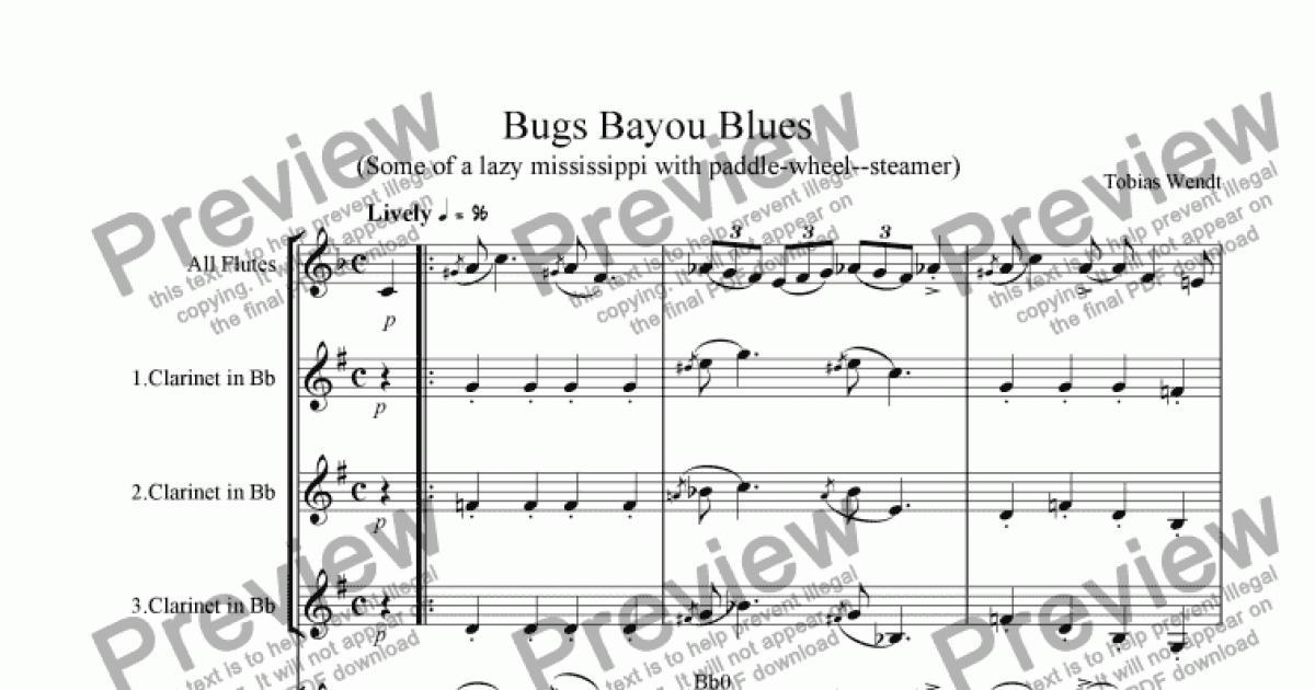 bugs blues sheet music pdf