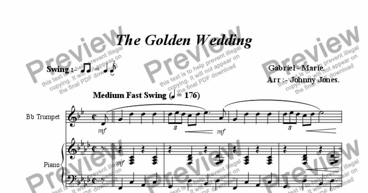 All Music Chords golden sheet music : Golden Wedding, The (Bb Trumpet and Piano, In Swing style)