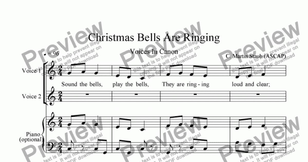 Christmas Bells Are Ringing - Download Sheet Music PDF file