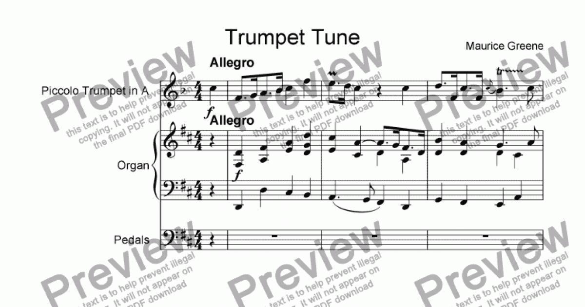 Trumpet Tune - Download Sheet Music PDF file
