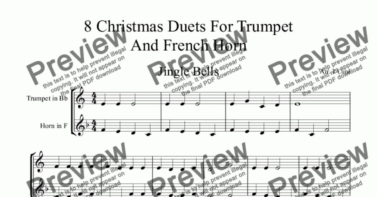 Christmas Duets.8 Christmas Duets For Trumpet And F Horn For Duet By Trad Sheet Music Pdf File To Download