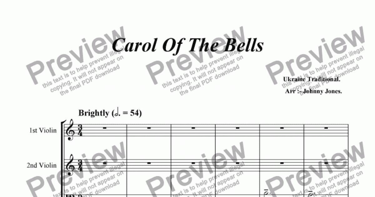 Carol Of The Bells (String Quartet) - Sheet Music PDF file