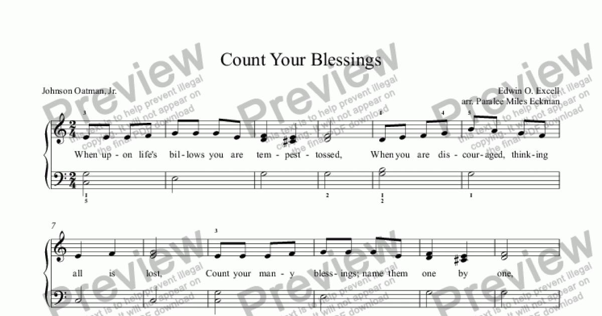 count your blessings download sheet music pdf file. Black Bedroom Furniture Sets. Home Design Ideas
