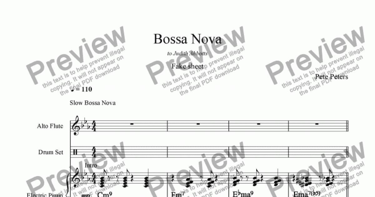 Beautiful Bossa Nova Chords Guitar Pattern Basic Guitar Chords For