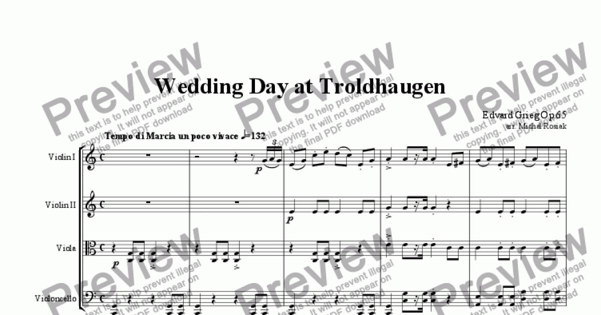 All Music Chords grieg wedding day at troldhaugen sheet music : Wedding Day at Troldhaugen (complete) - Sheet Music PDF file