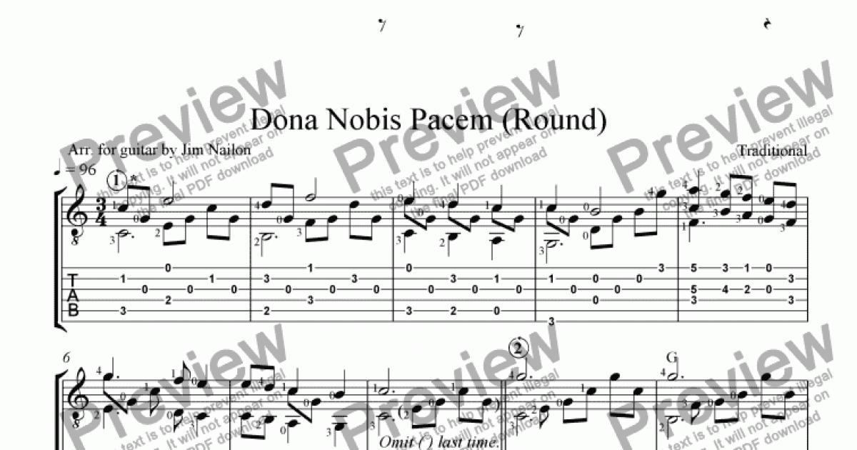 Liturgical Guitarist: Dona Nobis Pacem - Download PDF file